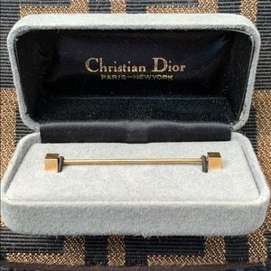 🆕Christian Dior Designer Gold Tie Bar Pin